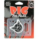 Pig Piles Soft Risers clear alzas skate