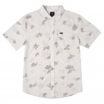 Rvca Endless seersucker antique white 2021 camisa