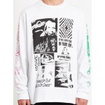 Volcom Bits of brain white 2021 camiseta de manga larga