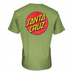 Santa Cruz Classic Dot Chest green 2022 camiseta