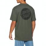 Santa Cruz Contra Dot Mono washed black 2021 camiseta