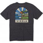 Vissla Cliffside sunrise black heather 2022 camiseta