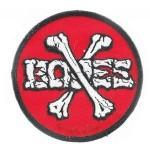 Bones Cross Bones red parche