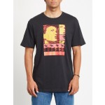 Volcom Embeded face black 2021 camiseta