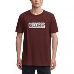 Globe Fracture oxblood 2021 camiseta
