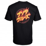 Santa Cruz Flaming japanese dot black 2021 camiseta