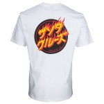 Santa Cruz Flaming japanese dot white 2021 camiseta
