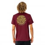 Rip Curl Wettie Esential maroon 2022 camiseta