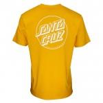 Santa Cruz Opus Dot Stripe mustard 2022 camiseta