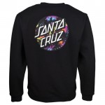 Santa Dot Splatter black 2021 sudadera