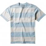 Vissla Creators Block stripe eco pocket cool blue 2021 camiseta