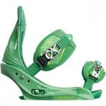 burton stiletto est verde l 2013 fijaciones de snowboard de mujer