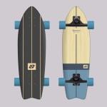 Hydroponic Vintage Surfskate completo
