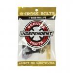 Independent Genuine parts Phillips 1'' Black Gold Tornillos de Skate