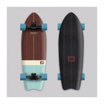 Hydroponic Vintage marrón Surfskate completo
