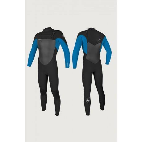 O´neill Epic 4/3 chest zip full black/ultra blue 2021 neopreno de niño