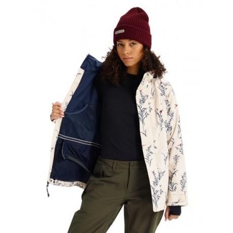 burton Jet set canvas birds 2019 chaqueta de snowboard de mujer