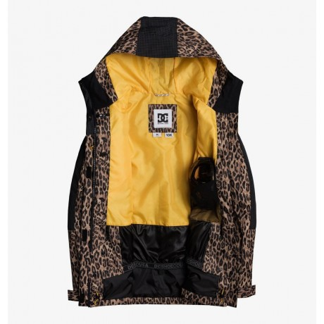 Dc Gemini leopard fade cqz 2021 chaqueta de snowboard de mujer