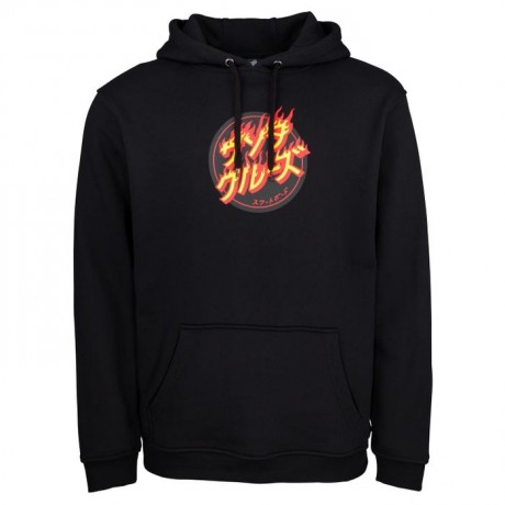 Santa Flaming japanese black 2021 sudadera