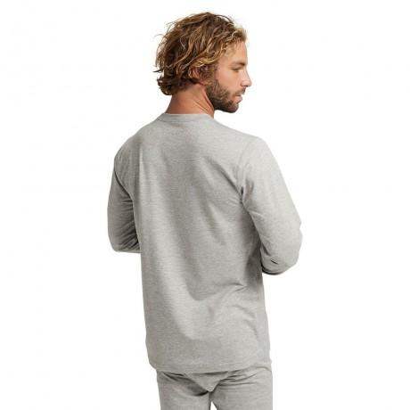 Burton midweight crew gray heather 2021 camiseta técnica de snowboard