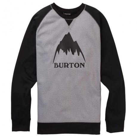 Burton Crown bonded crew grey black 2020 sudadera técnica de snowboard