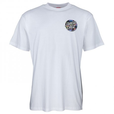 Santa Cruz Dot Splatter white 2021 camiseta