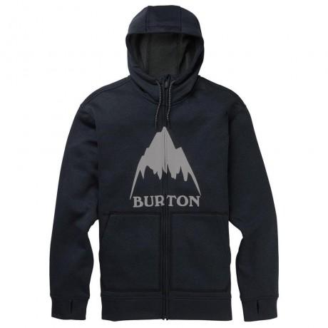 Burton Oak full zip mountain black 2020 sudadera técnica de snowboard