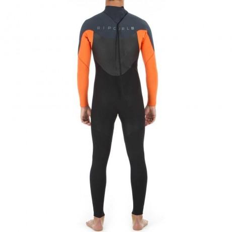 Rip Curl Omega 3/2 mm back zip orange 2020 traje de neopreno