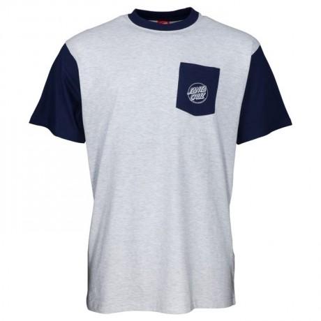 Santa Cruz Outline hand navy athletic heather 2021 camiseta