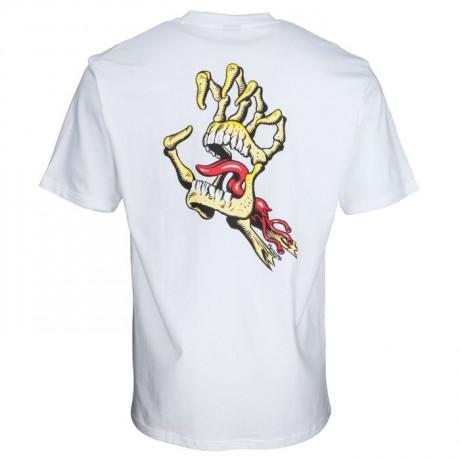 Santa Cruz Vintage bone hand white 2021 camiseta