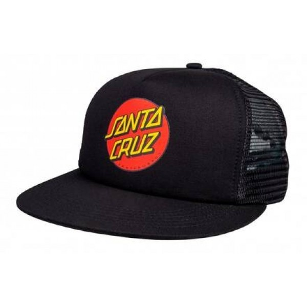 Santa Cruz Classic dot mesh black gorra