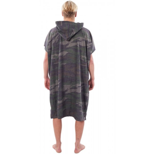 Rip Curl Mix up hooded towel black yellow poncho