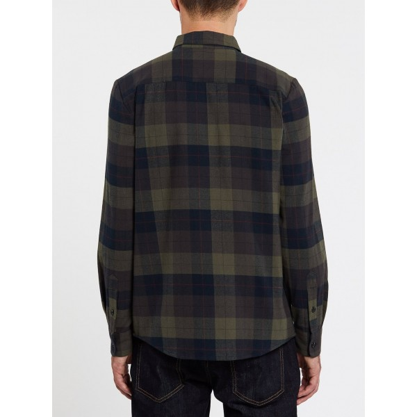Volcom Caden plaid army green combo 2021 camisa