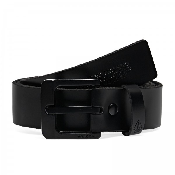 Volcom The Classic leather black 2021 cinturón
