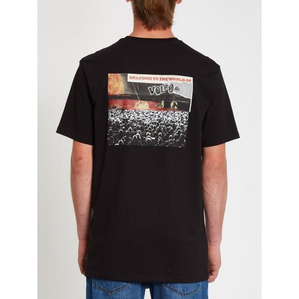 Volcom Worlds Collide black 2021 camiseta