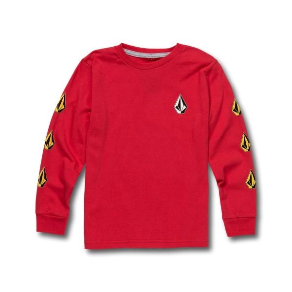 Volcom Deadly Stone fiery red 2021 camiseta de niño