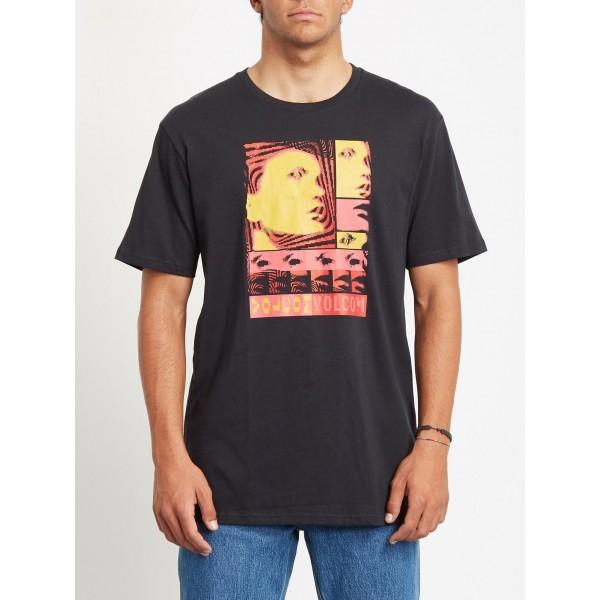 Volcom Embeded face black 2021 camiseta