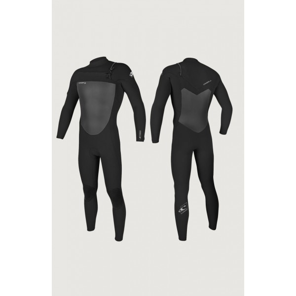 O´neill Epic 4/3 chest zip full black 2021 neopreno