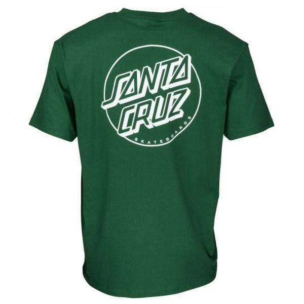 Santa Cruz Opus dot stripe green 2021 camiseta