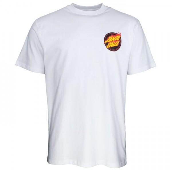 Santa Cruz Flaming japanese dot white 2021 camiseta