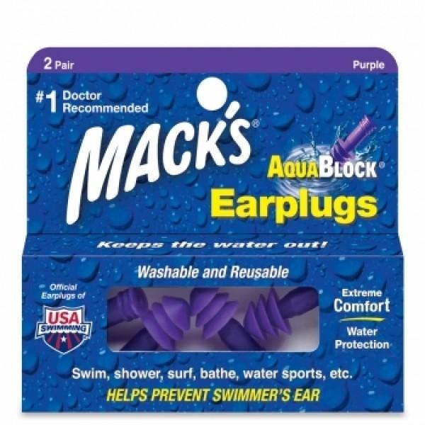 Mack´s Aquablock Tapones para los oídos 2 Pares