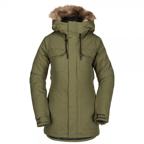Volcom Shadow Ins military 2021 chaqueta de snowboard de mujer