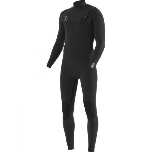 Vissla Seven seas 4/3 chest zip black neopreno