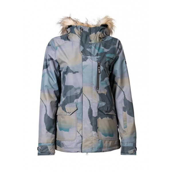 Nikita Hawthorne print mountain camo 2021 chaqueta de snowboard de mujer
