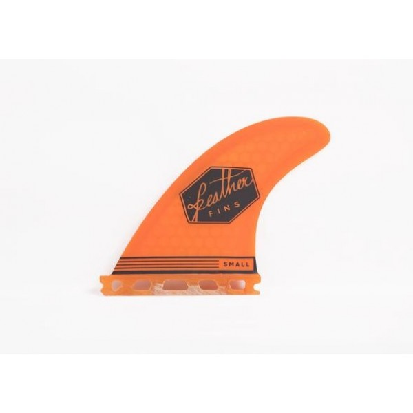 Feather Fins Ultralight single Tab orange Quillas Surf