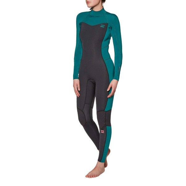 Billabong Furnace Synergy Flatlock Back Zip FL 3/2mm seafoam Traje de neopreno de mujer