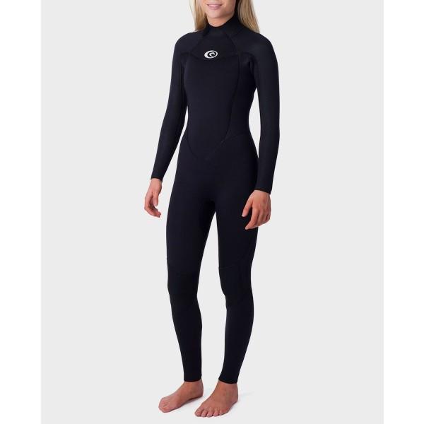 Rip Curl Omega 3/2 mm back zip black 2020 traje de neopreno de mujer