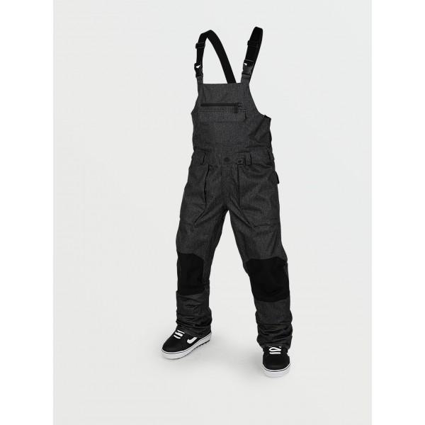 Volcom Roan Bib overall black static 2021 peto de snowboard