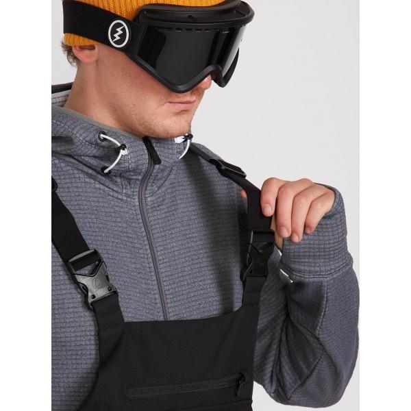 Volcom Roan Bib overall black 2020 peto de snowboard