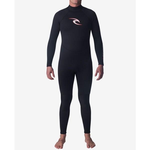 Rip curl Surf School 3/2 FL Stmr black Traje de neopreno de niño